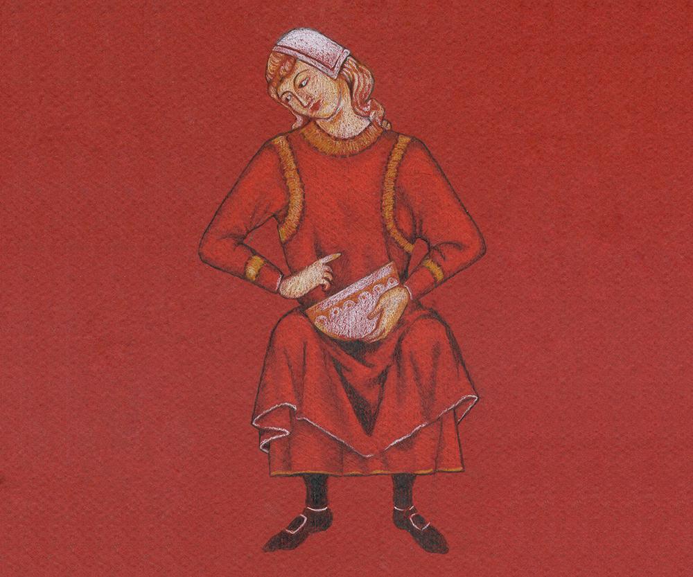 figurilla medieval dibujada - Ilustrania