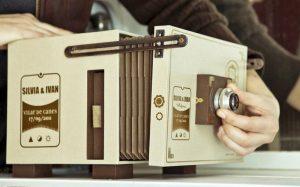 diseño de producto: caja de fotos antigua